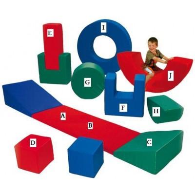 Pehmete kujundite komplekt lastele